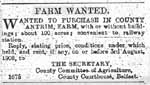 Advertisment for farm