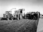 A silage demonstration on O'Neill's Farm with Sam English and students